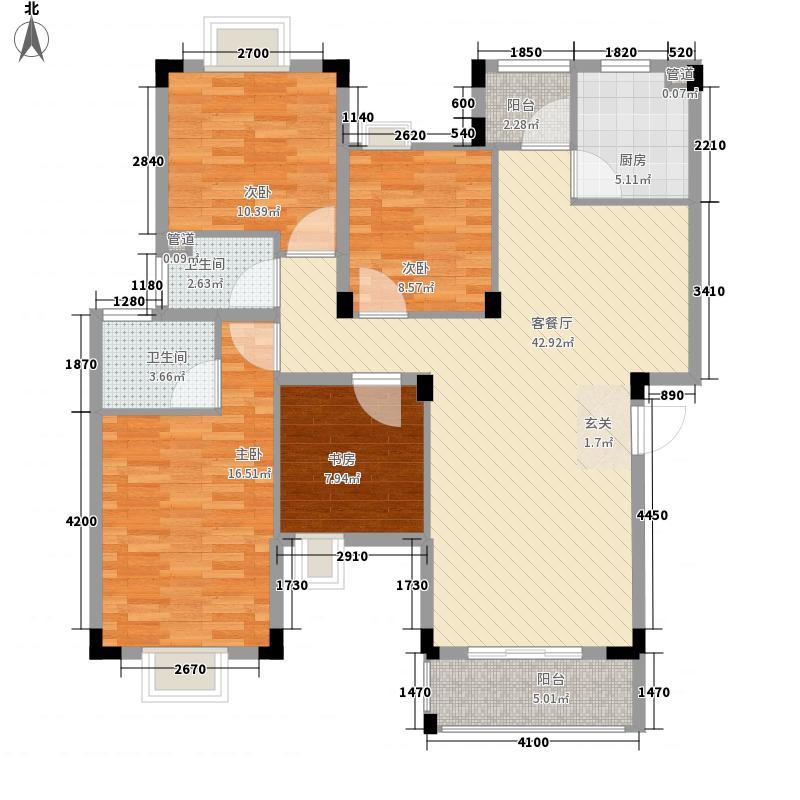 晓翠园142.00㎡户型4室