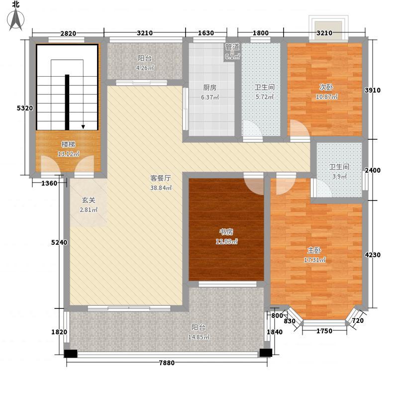 金正・欧洲城131.50㎡K户型3室2厅2卫1厨