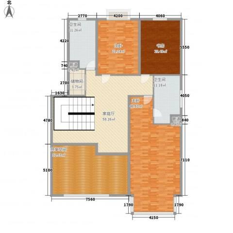东方文苑3室0厅2卫0厨273.00㎡户型图
