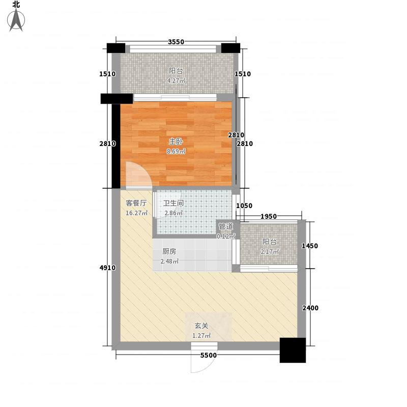 永利幸福广场345.12㎡3#D户型1室1厅1卫1厨