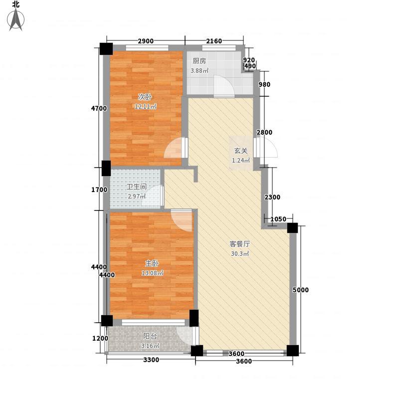 锦山秀城4户型2室2厅1卫1厨