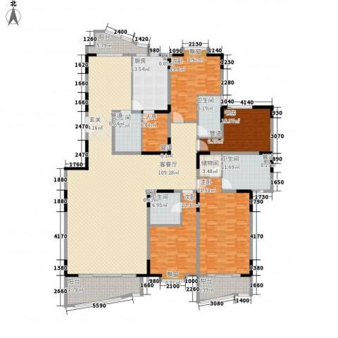 新世纪豪园4室1厅4卫1厨389.00㎡户型图
