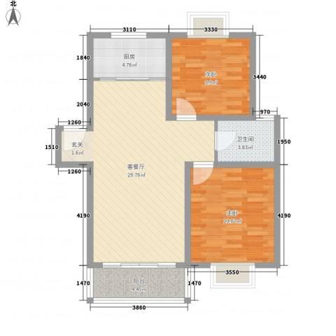 望馨花苑别墅2室1厅1卫1厨94.00㎡户型图