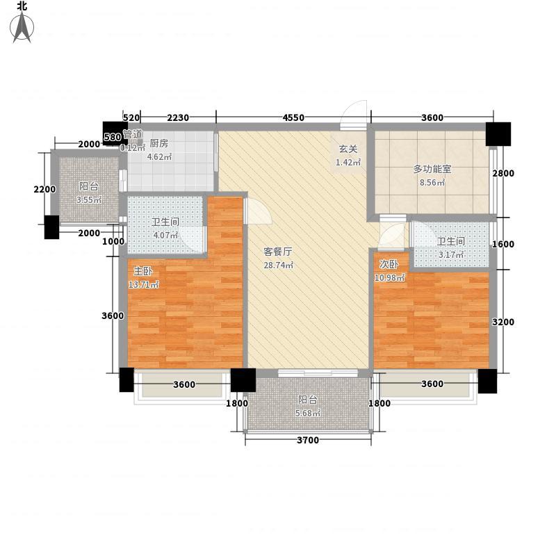 雅涛花园8.00㎡户型3室