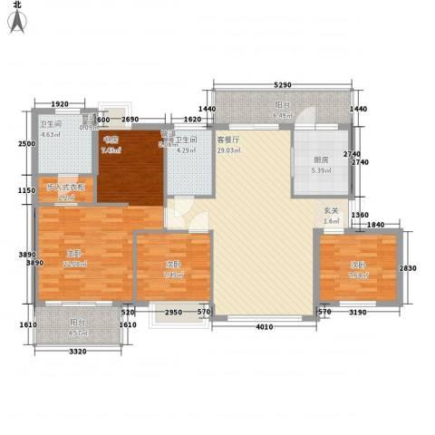 国瀚城3室1厅2卫1厨133.00㎡户型图