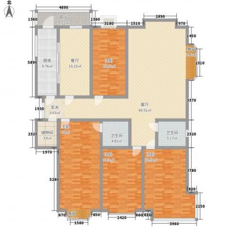 公务员小区二期4室2厅2卫1厨267.00㎡户型图