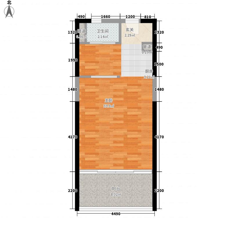 恩歌源・享海177756.37㎡2/3栋A5户型1室1厅1卫1厨