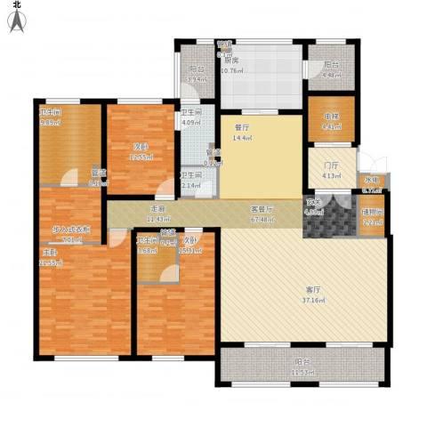 华润新江湾九里3室1厅4卫1厨264.00㎡户型图