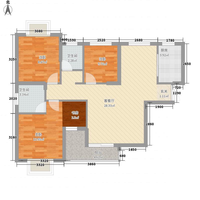 华诚・荣邦花园71.20㎡7#单张户型4室2厅2卫1厨