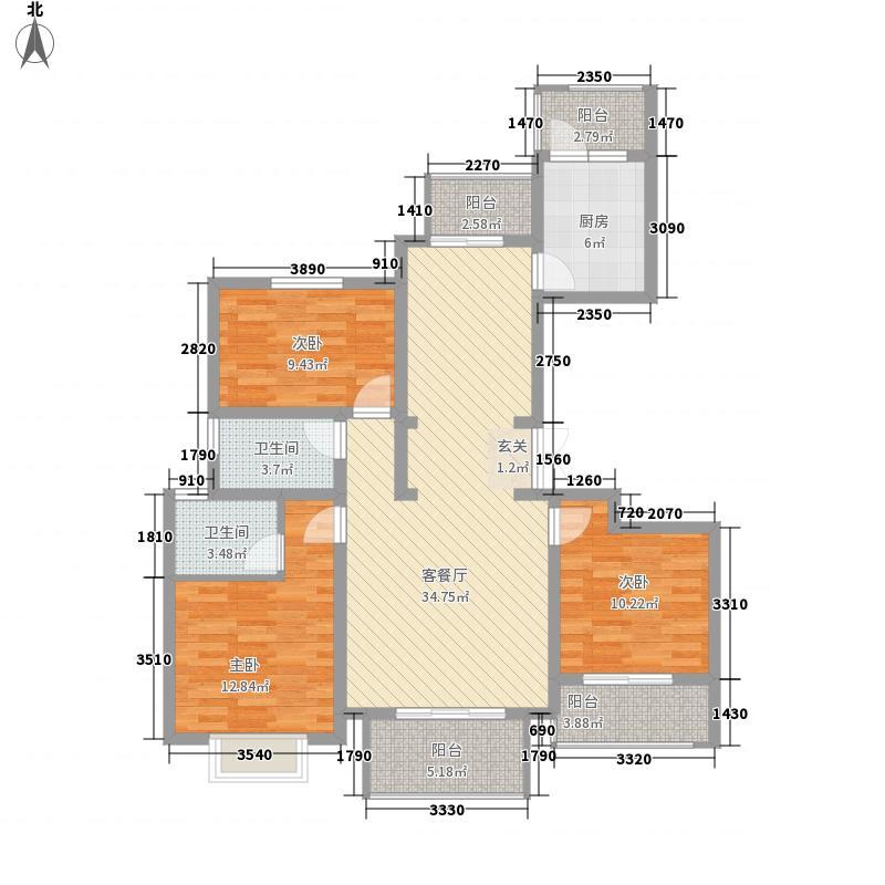 拉菲国际137.00㎡B7--户型3室2厅2卫1厨