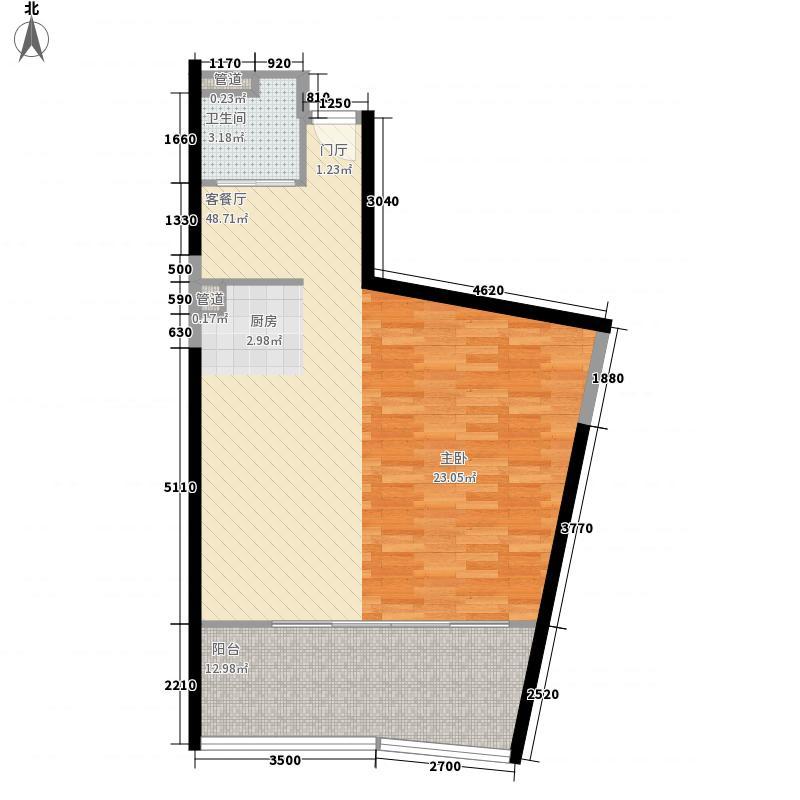 恩歌源・享海17770室1厅1卫0厨69.00㎡户型图