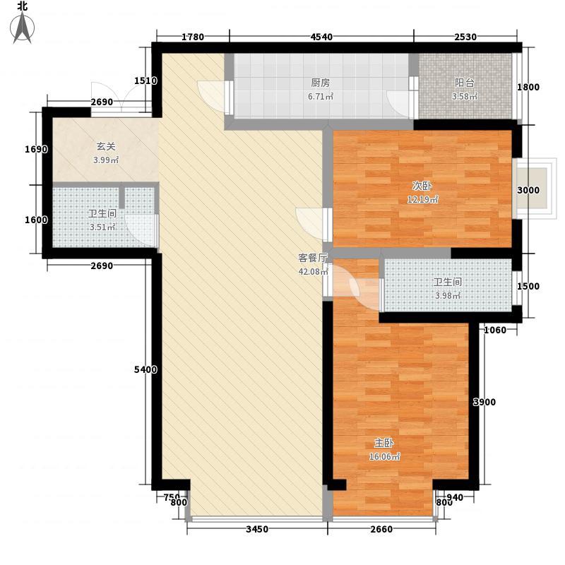 省七建耿家庄住宅小区1户型2室