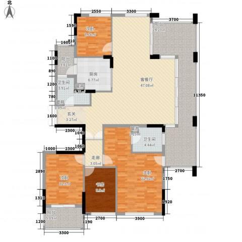 高桥皮具城4室1厅2卫1厨211.00㎡户型图