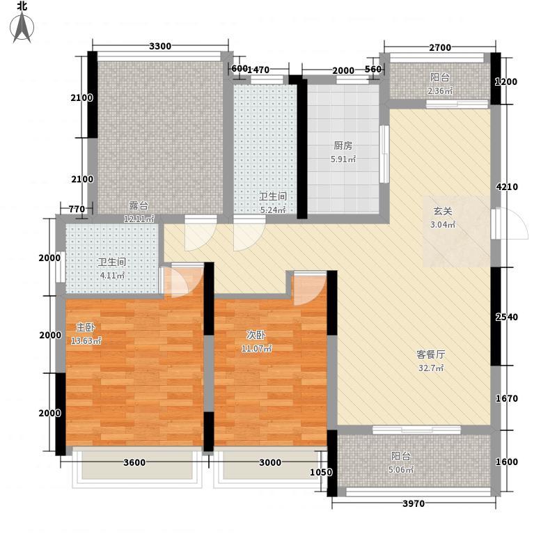 国购・观澜天下BI2CL1380253823户型3室2厅2卫1厨