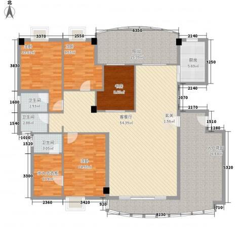 桃源居4室1厅3卫1厨183.00㎡户型图