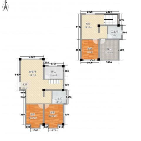 佳弘・中央公馆3室2厅2卫1厨112.47㎡户型图