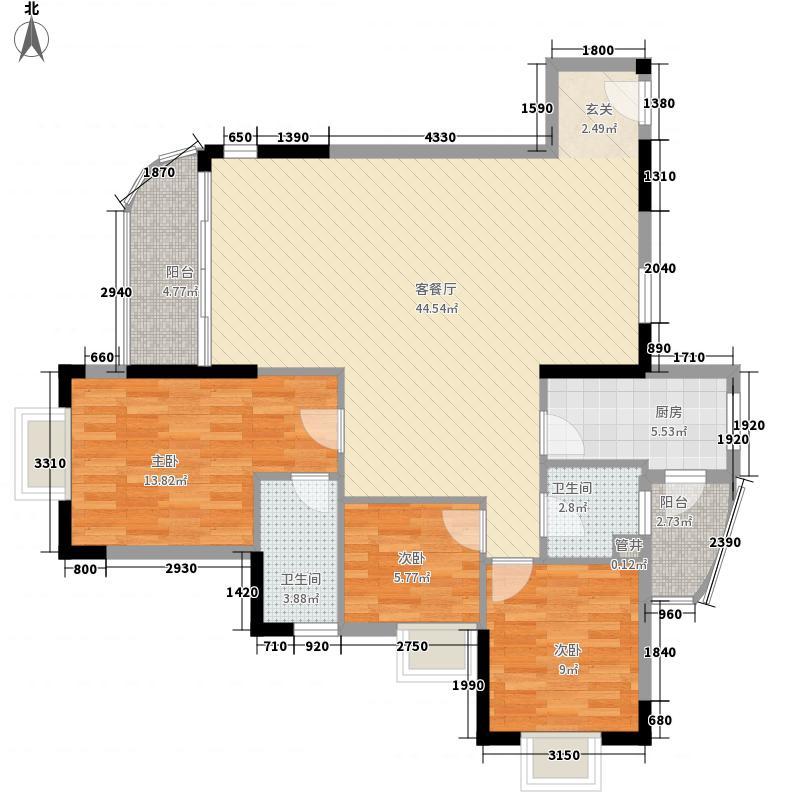 江畔华庭130.89㎡江畔华庭户型图3室2厅2卫1厨户型10室