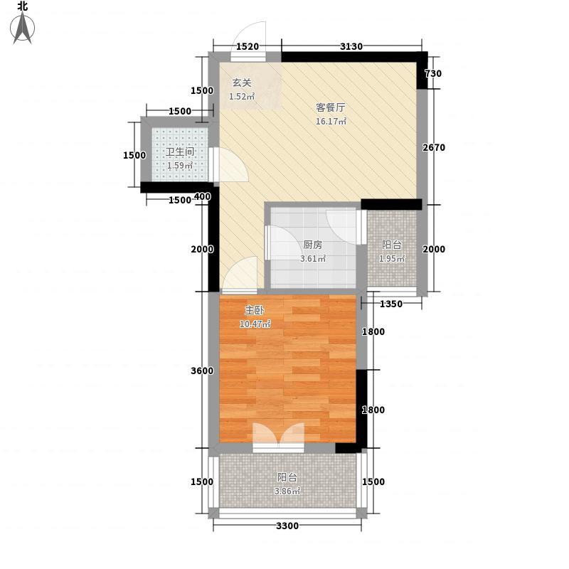 嘉和逸园147.68㎡一栋D1户型1室1厅1卫1厨