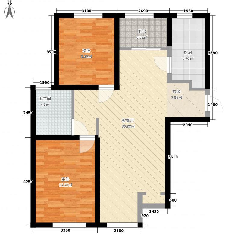 俊嘉花园户型2室1厅