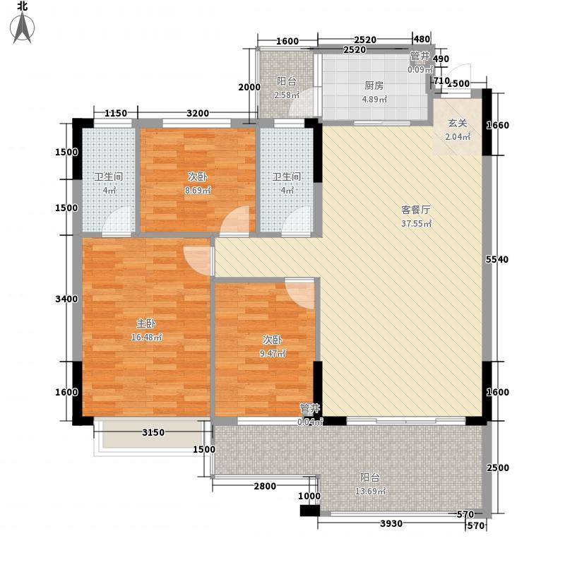 新天美地花园116.00㎡1期3栋标准面积11600m户型