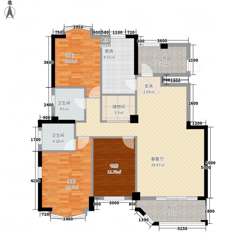公园道一号126.00㎡公园道一号3室户型3室