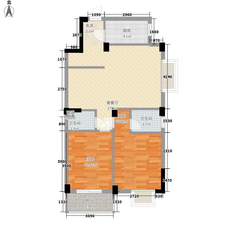 美林湾崇文城88.00㎡6#7#01、02、05户型2室2厅1卫1厨