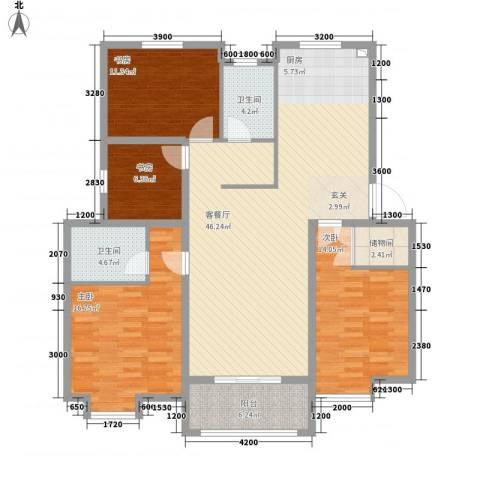 温哥华城・锦绣府邸4室1厅2卫0厨112.25㎡户型图