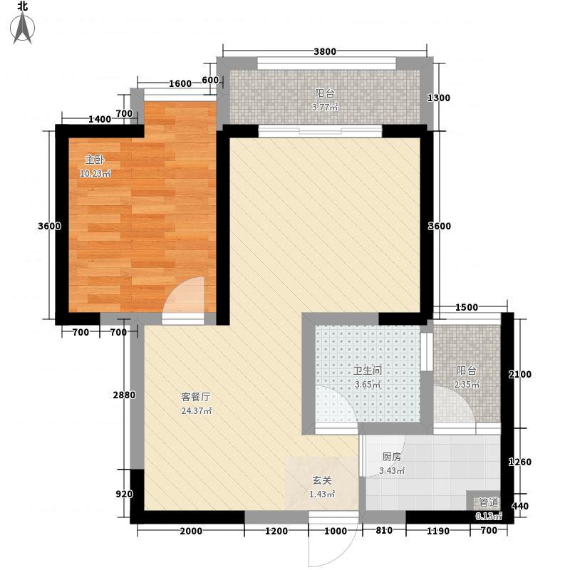 锦丽花语7.72㎡05户型1室1厅1卫1厨