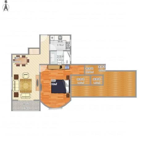 延吉东路1311室1厅1卫1厨94.00㎡户型图