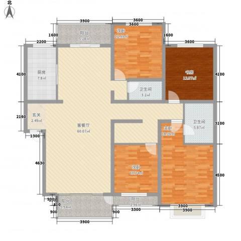 车城花园三期4室1厅2卫1厨204.00㎡户型图