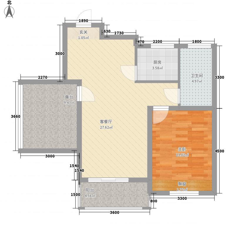 国购・观澜天下L6B411380253045户型2室2厅1卫1厨