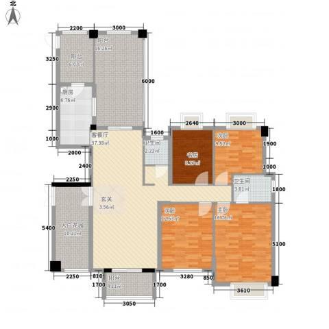 特房五缘尊墅4室1厅2卫1厨188.00㎡户型图