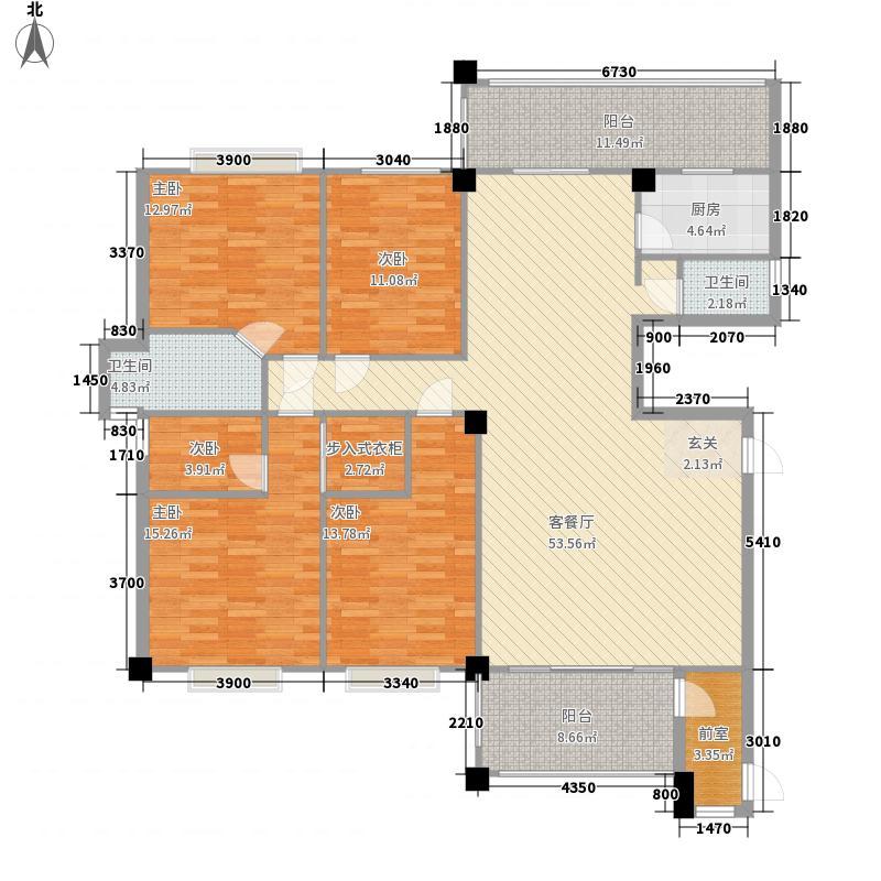 华盛豪苑212.00㎡B幢2-21层04单元户型