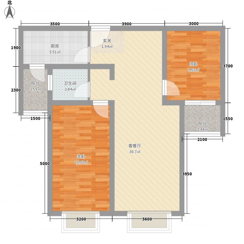天桥丽景85.32㎡C3户型2室2厅1卫1厨