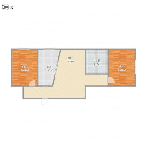欣昌小区2室1厅1卫1厨102.00㎡户型图