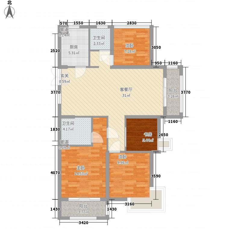 财富城市广场8127127.00㎡C户型4室2厅2卫
