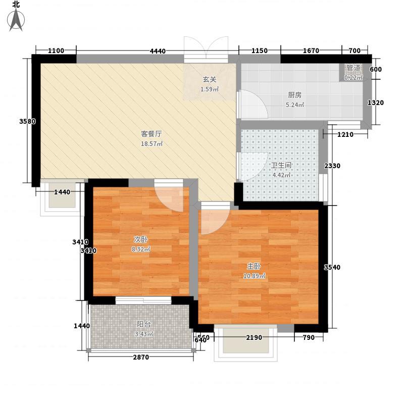 高速奥兰花园74.00㎡户型2室