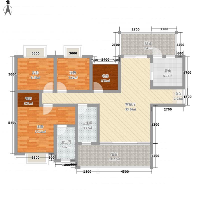 苹果城二期桂园14141.82㎡A户型4室2厅2卫1厨