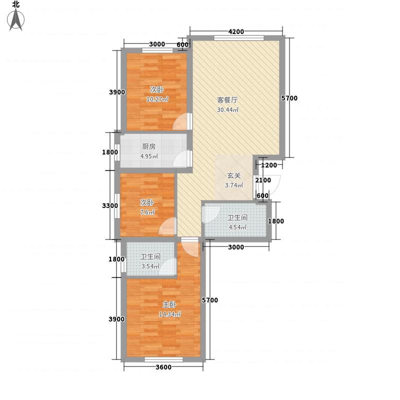 银雀山113.00㎡小区322113户型3室2厅2卫