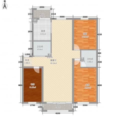 光机八区3室1厅2卫1厨147.00㎡户型图