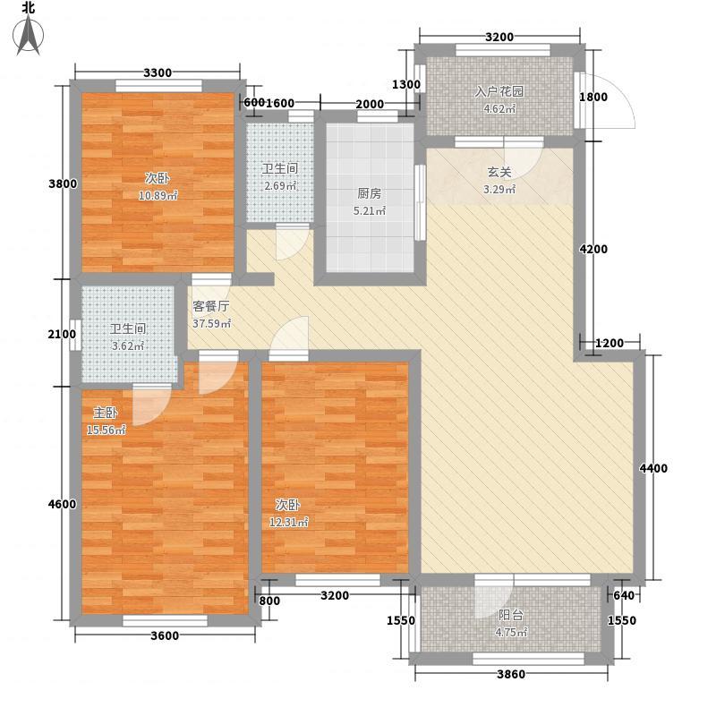 印象昌黎127.00㎡Z3户型3室2厅2卫1厨