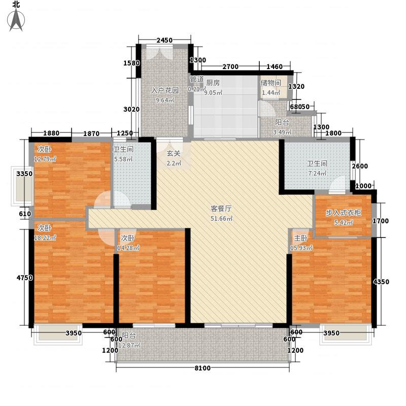 祥隆花园52213.20㎡5#2单元2号房5室户型5室2厅2卫1厨