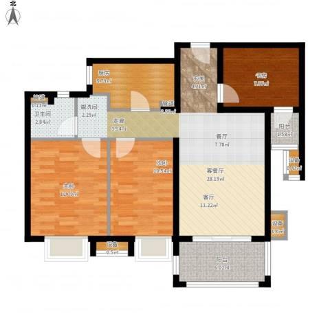 佳兆业1号3室1厅1卫1厨112.00㎡户型图