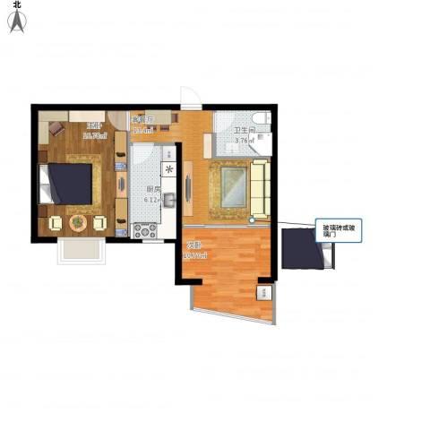 绿地世纪城・塞纳印象2室1厅1卫1厨72.00㎡户型图