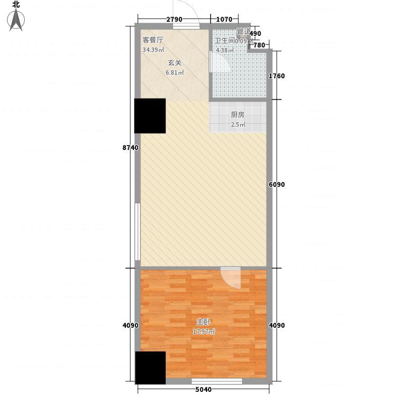 国科・星天地D2户型1室1厅1卫1厨