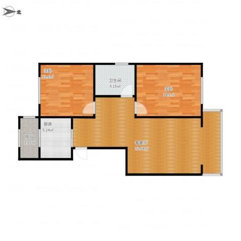 侯台碧水家园2室1厅1卫1厨97.00㎡户型图