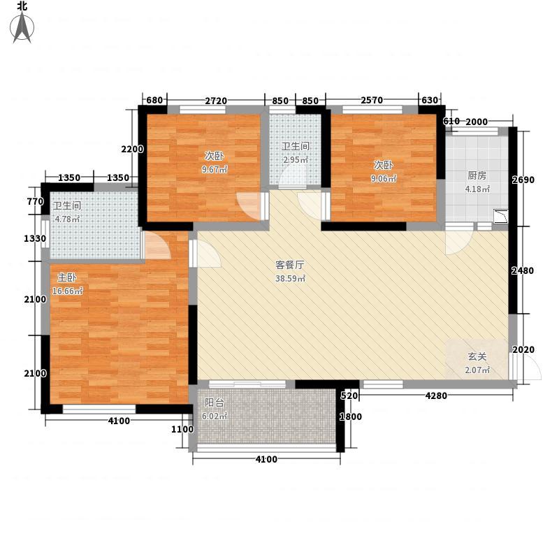 邦泰・铂仕公馆7.22㎡邦泰铂仕公馆B3户型3室2厅1卫1厨