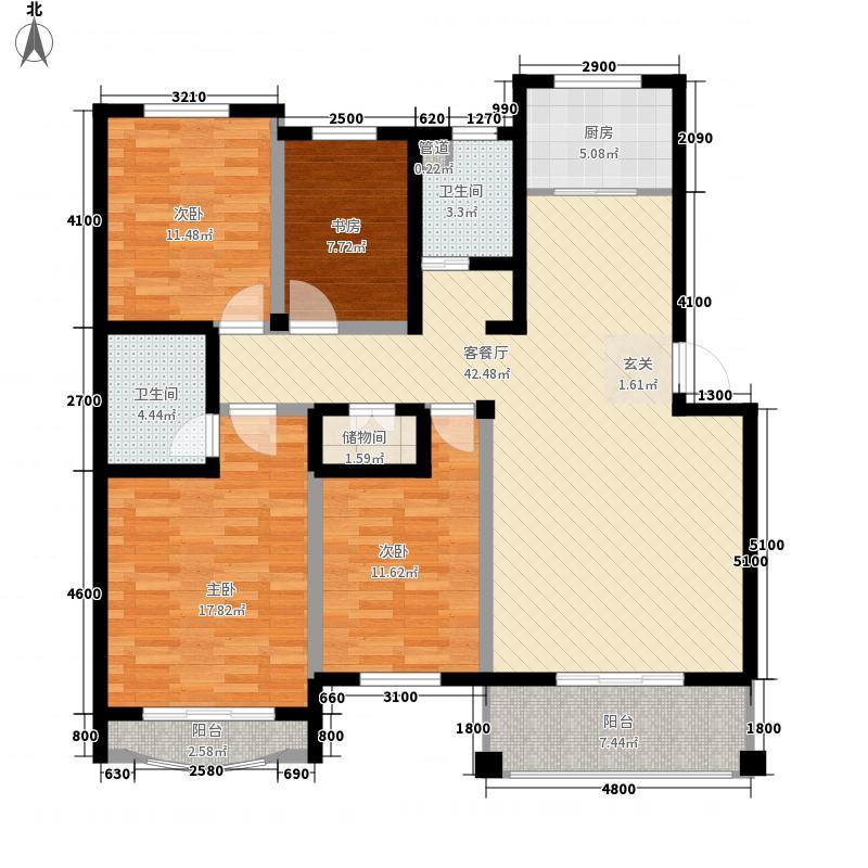 时间公园燕园13.00㎡户型4室2厅2卫1厨