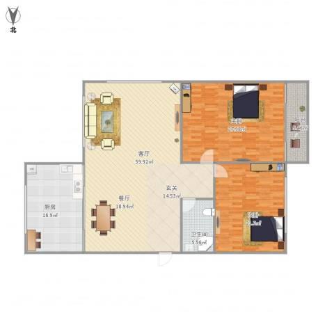 志成顺园3-1-6012室1厅1卫1厨180.00㎡户型图