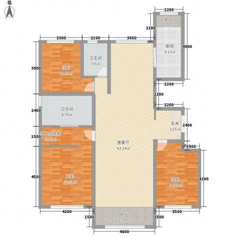 亲水湾・�园3室1厅2卫1厨188.00㎡户型图